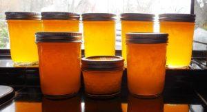 Meyer Lemon Marmalade Recipe in jars on counter