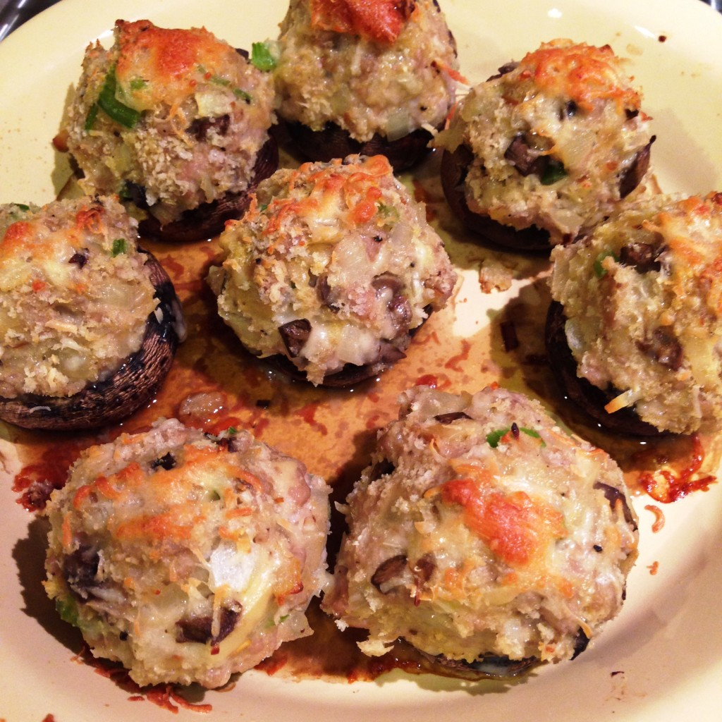 mushrooms out of oven