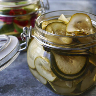 Over the river & thru the woods….refrigerator pickles