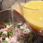 chicken stock into soup