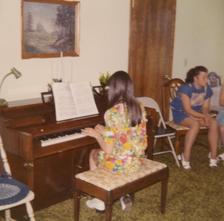 Deb at recital
