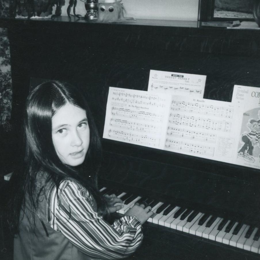 Deb at the piano
