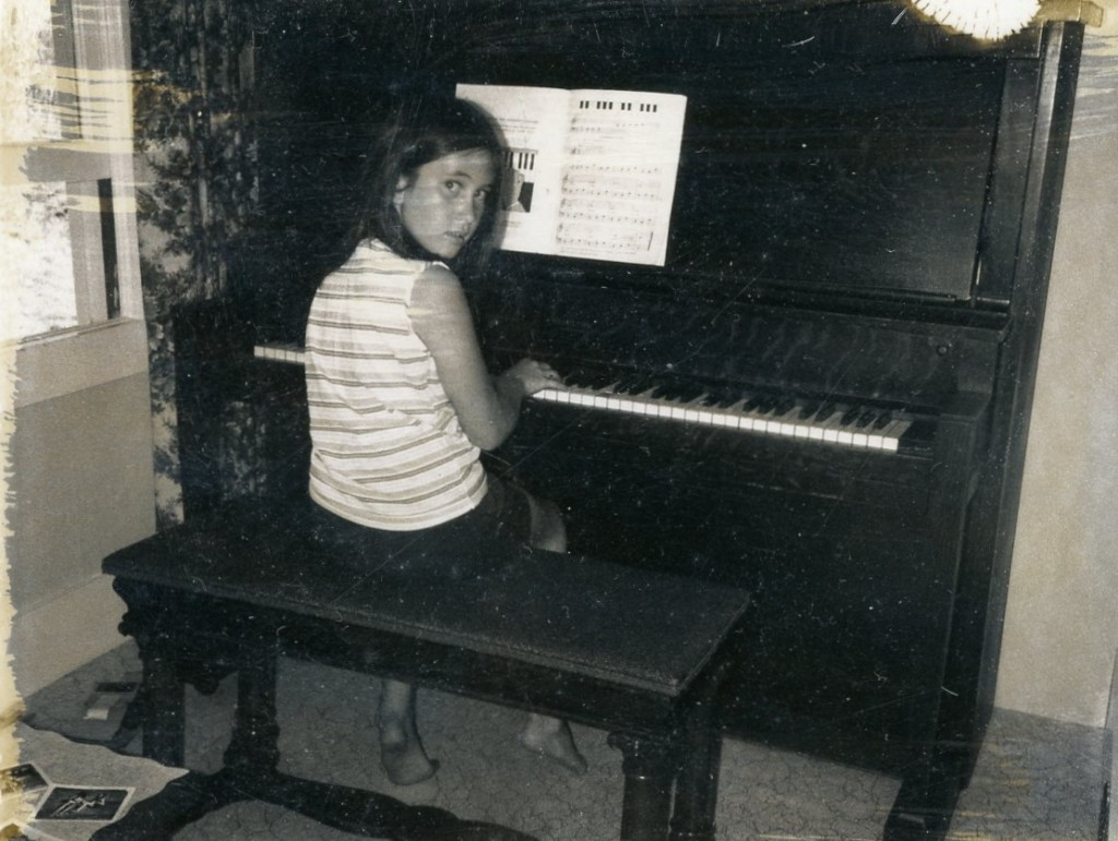 Deb playing the piano