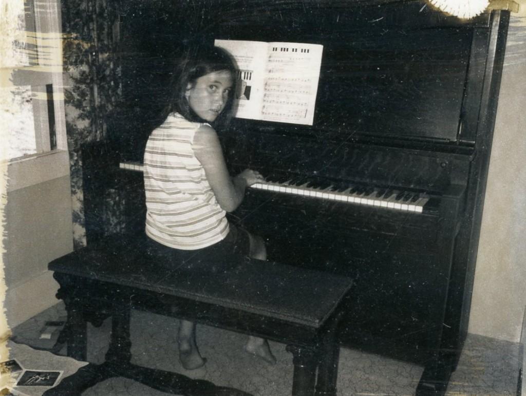 Deb playing the piano