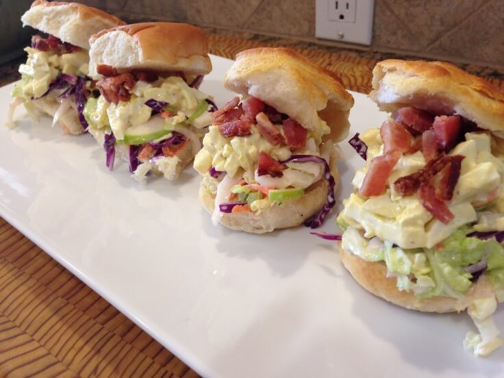 Deviled Egg Sliders - an easy side dish or appetizer and such a great combo of flavors!