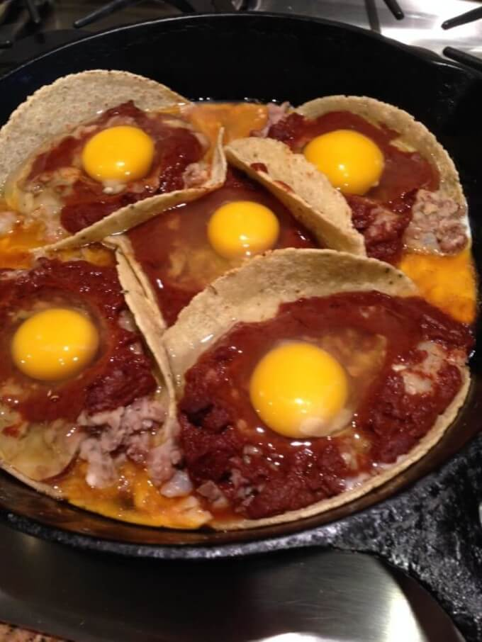 Eggs in tortillas