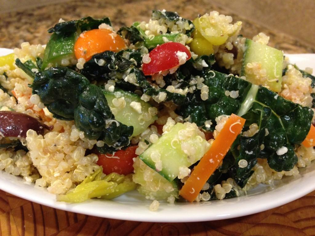 Kale and Quinoa Greek Salad
