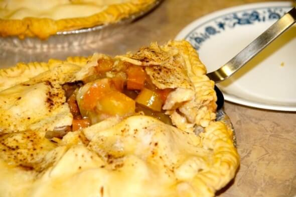 Slice of Rhubarb Pie