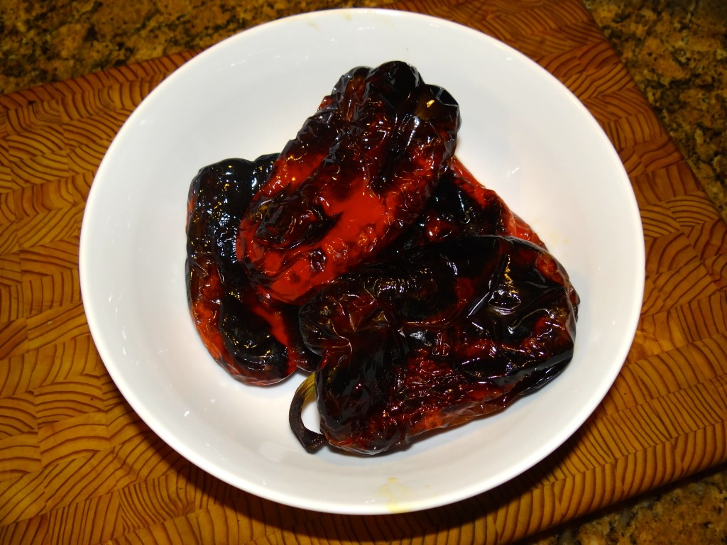 Broiled peppers