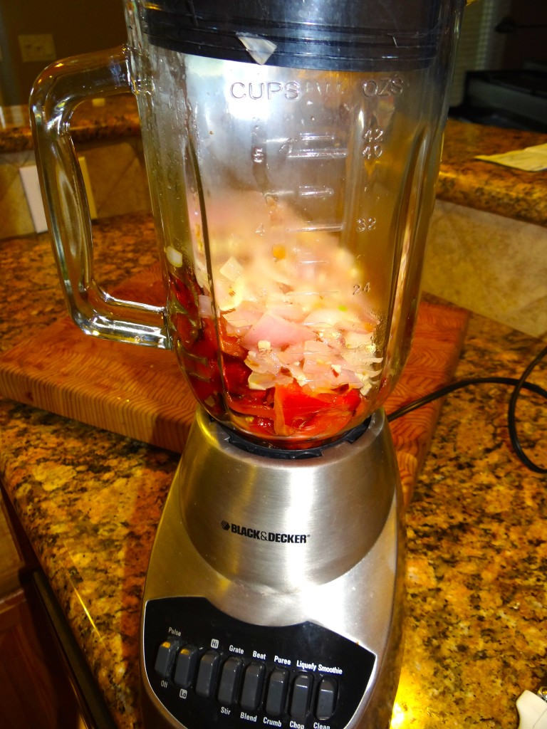 Whirl it all up in the blender.