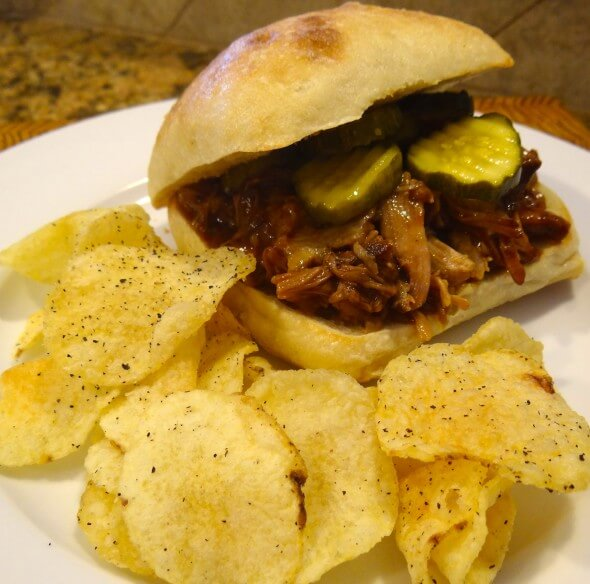 One more view of this scrumptious pulled pork sandwich!