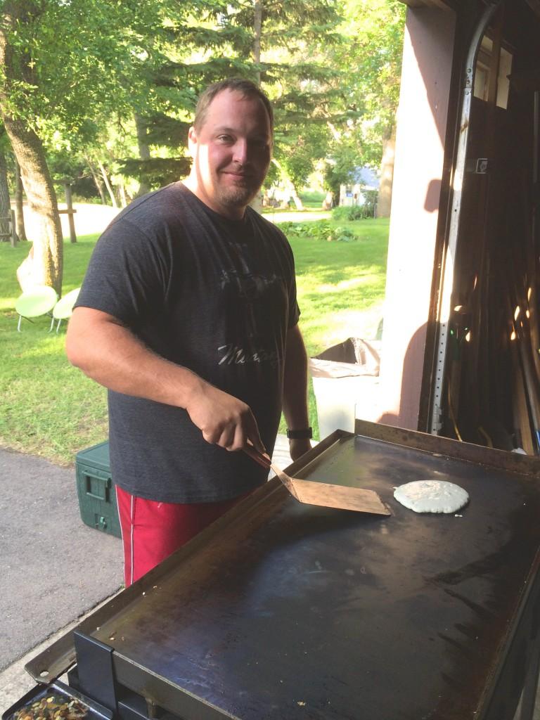 Cuzn Kyle making breakfast.