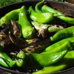 Roasting New Mexico Green Chilies