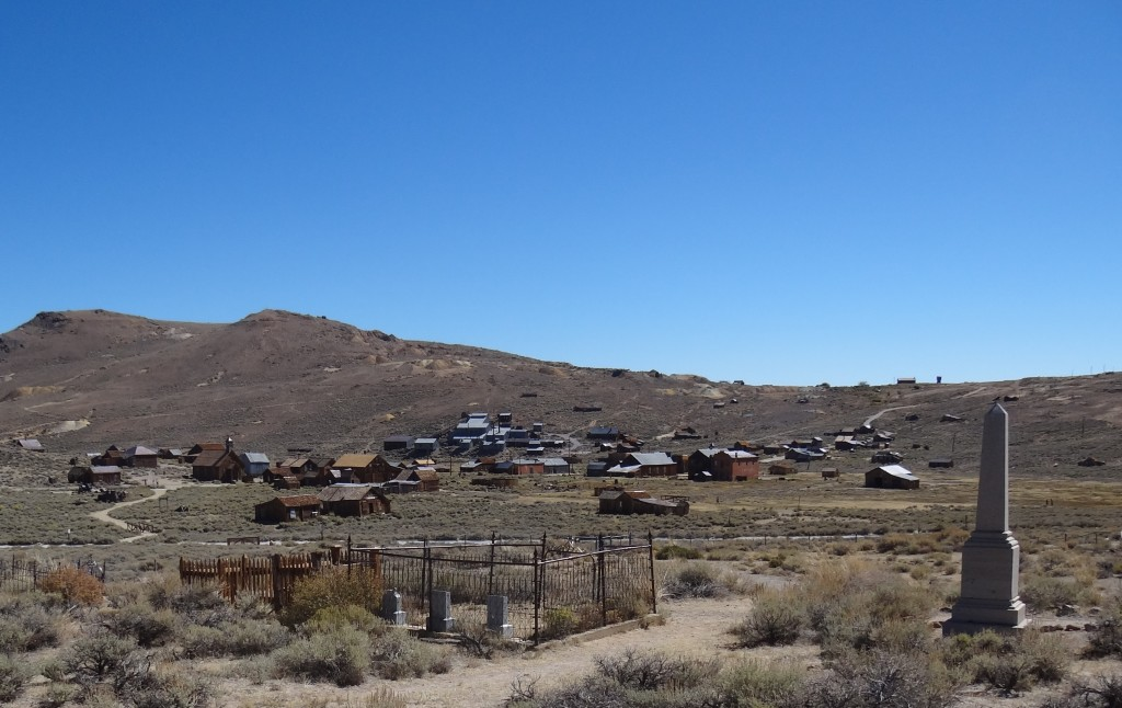 View from Bodie Cemetery - no ghost town is complete without a cemetery!
