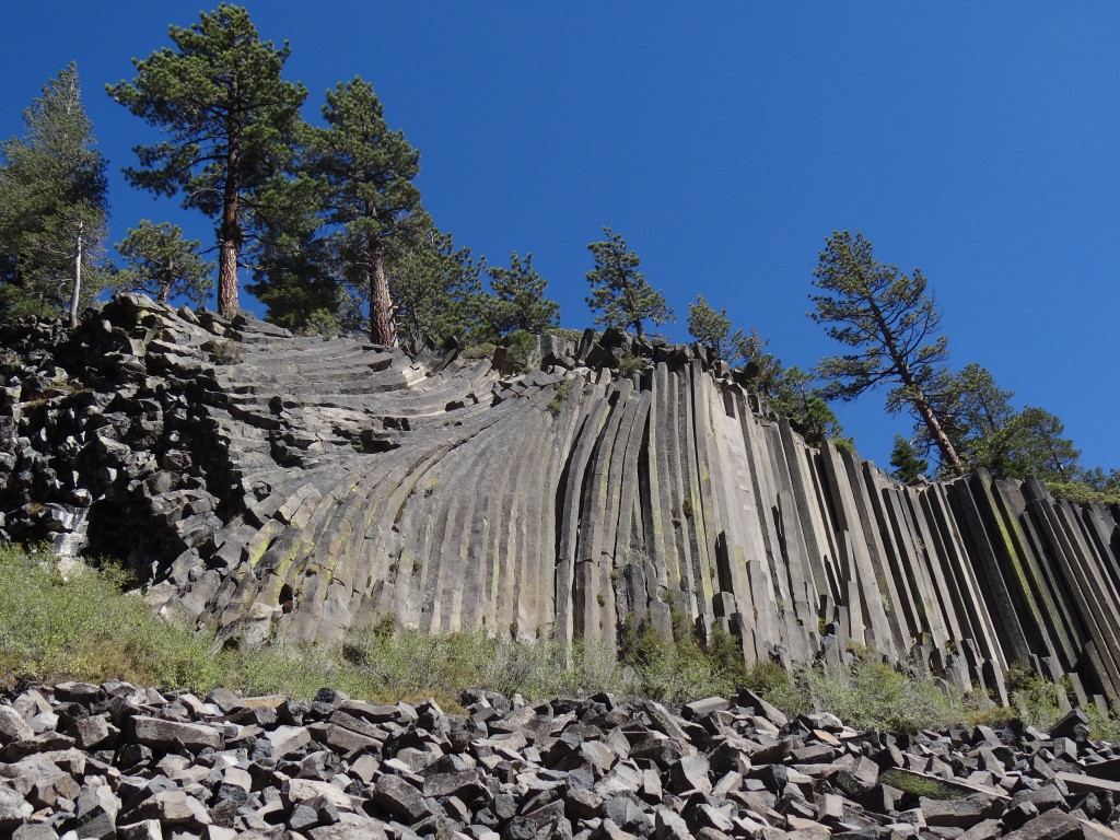 Our first glimpse of the Devils Postpile