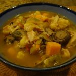 Turkey Soup with Roasted Vegetables
