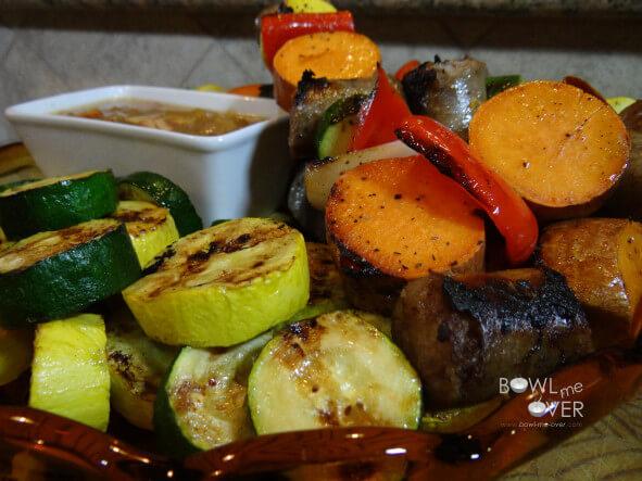 Brats & veggie platter
