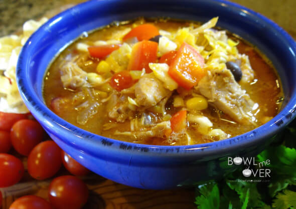 Slow Cooker Meal Two - Fiesta Chicken Stew - Bowl Me Over