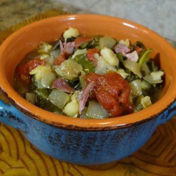 Slow Cooker Collard Green Stew