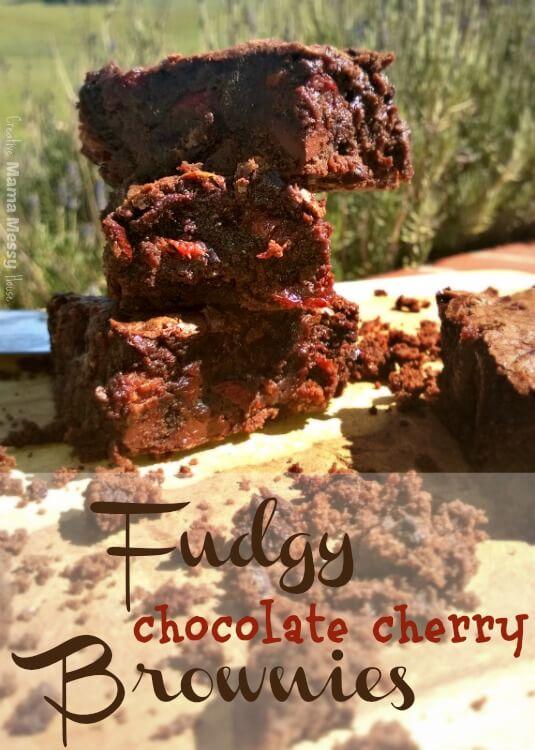 Fudgy Chocolate Cherry Brownies
