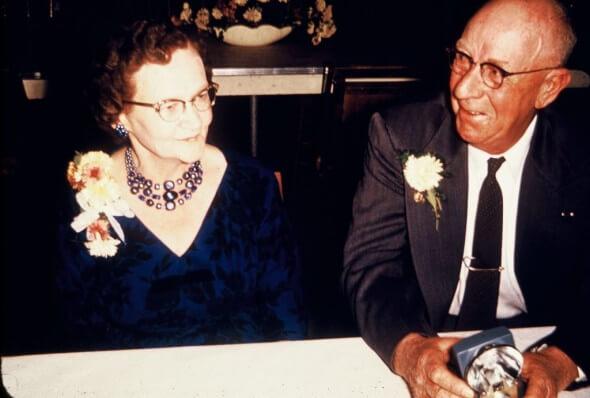 Honoring Memorial Day - Grandma and Grandpa Guy at his retirement party.