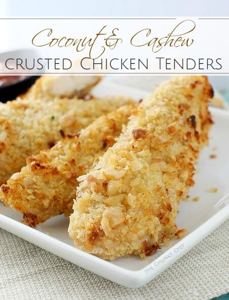 Coconut and Cashew-Encrusted Chicken Tenders