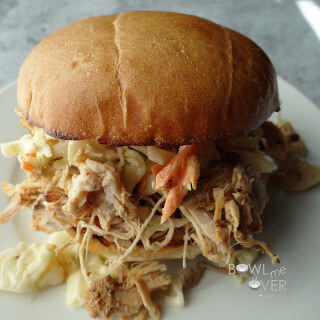 Slow Cooker Kauai Pulled Pork Sandwich