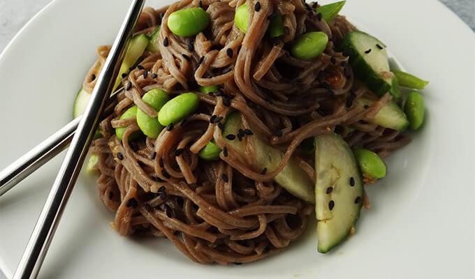 Soba Noodle Salad for #MeatlessMonday