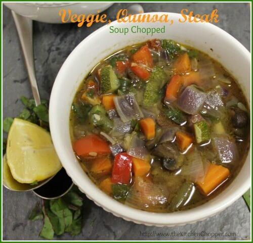 Veggie Quinoa Steak Soup Chopped