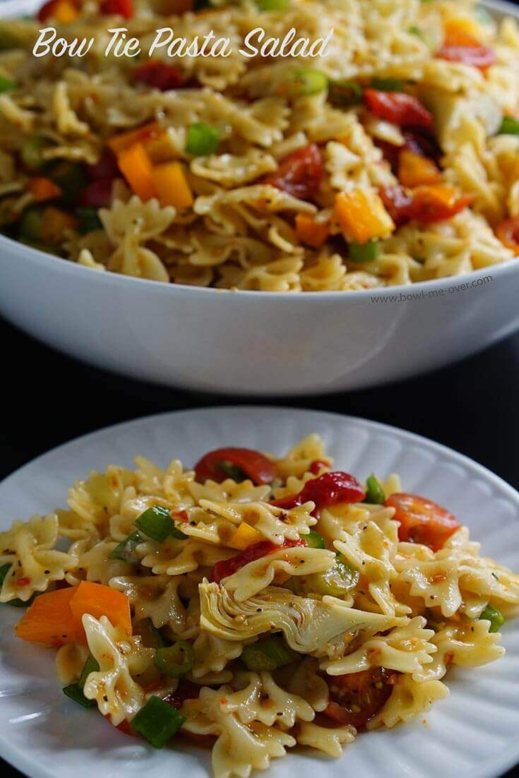 bow tie pasta salad is great for a cookout