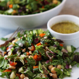 Chop Salad with Light Vinaigrette #MeatlessMonday