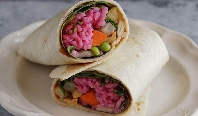 Red Rice Thai Wrap #MeatlessMonday