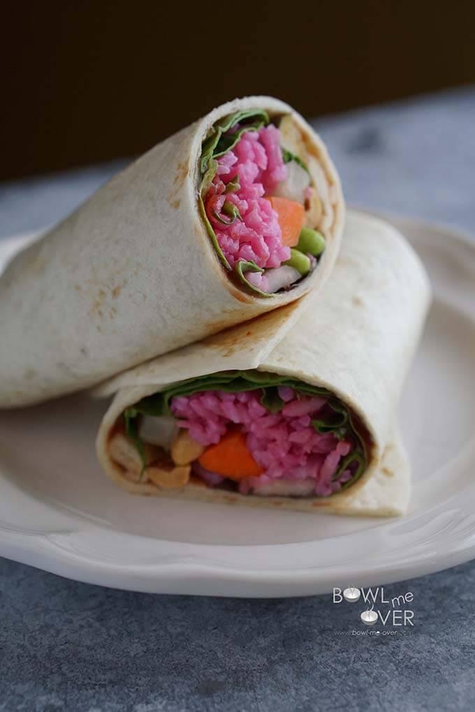 Red Rice Thai Wraps