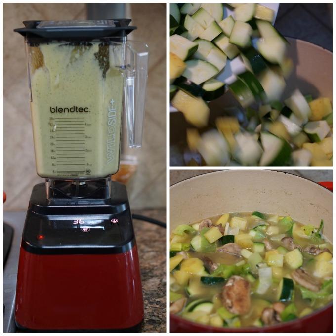 Zucchini Parmesan Soup