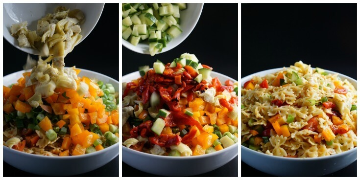 Bow Tie Pasta Salad Recipes - next add the remaining ingredients and mix well.