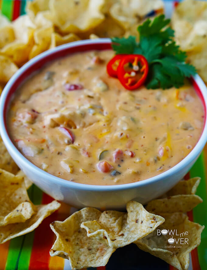 Queso Dip - makes lots so there's tons to share!