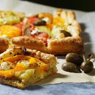 Tomato Tart with Goat Cheese and Capers