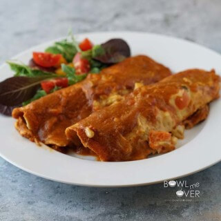 Chicken enchiladas!