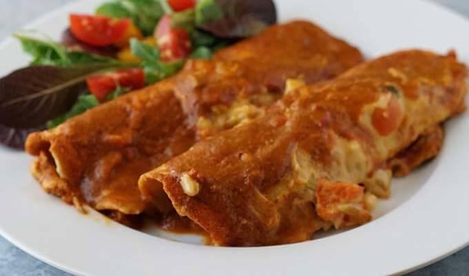 Queso Chicken Enchiladas