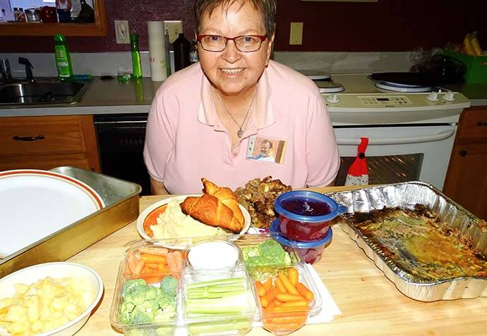 Aunt Shirley with all the good eats!