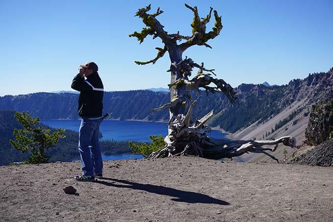 Dan at Crater Lake