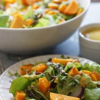 Fall Harvest Salad #MeatlessMonday