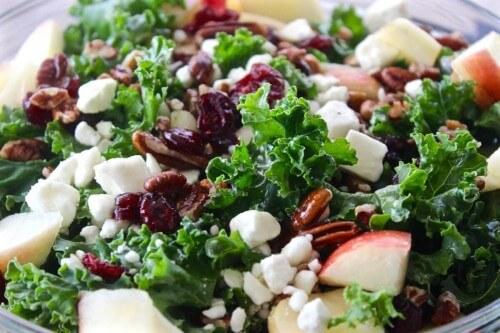 Kale Apple Salad from Homemade Food Junkie