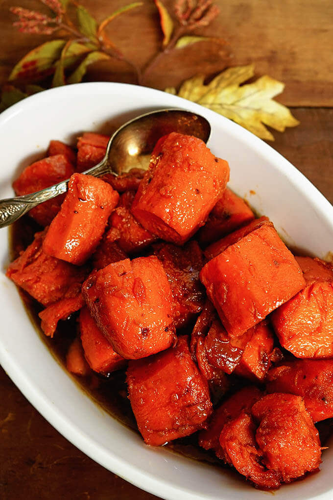 Thanksgiving Side Dishes always include candied sweet potatoes