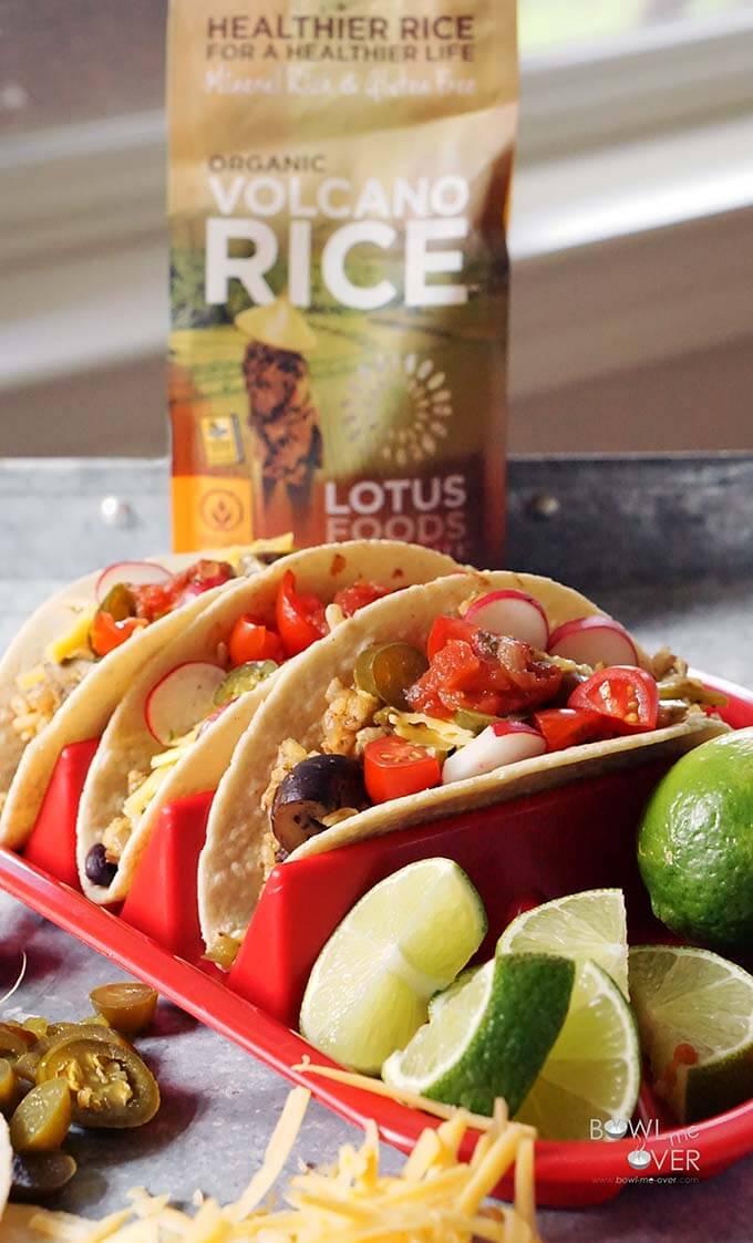 Dirty Rice Black Bean Tacos