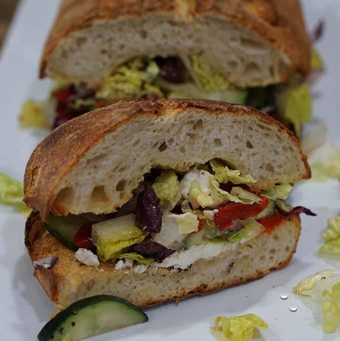 Greek Stuffed Crouton - great Vegetarian Sandwich!