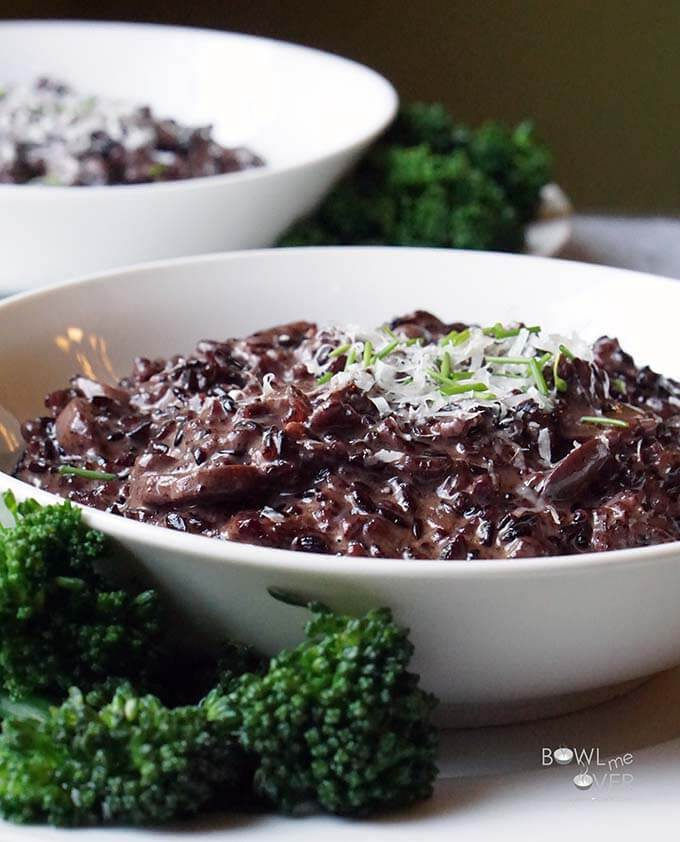 Purple Risotto with Mushrooms
