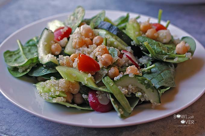Spinach Garbanzo bean salad