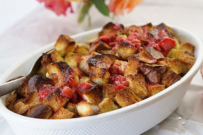 Pin to save this recipe - Baked French Toast with Strawberry Jam!