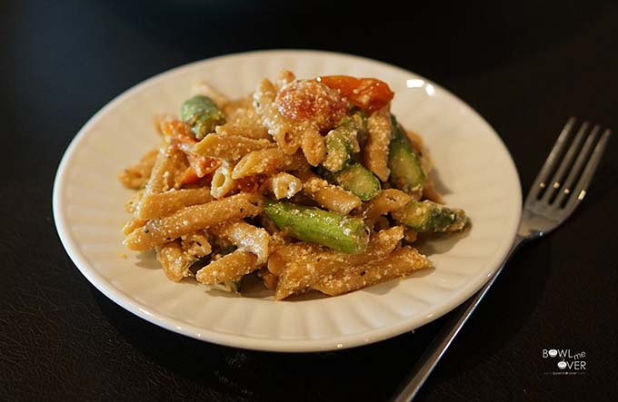 Lemony Brown Butter Penne with Roasted Vegetables